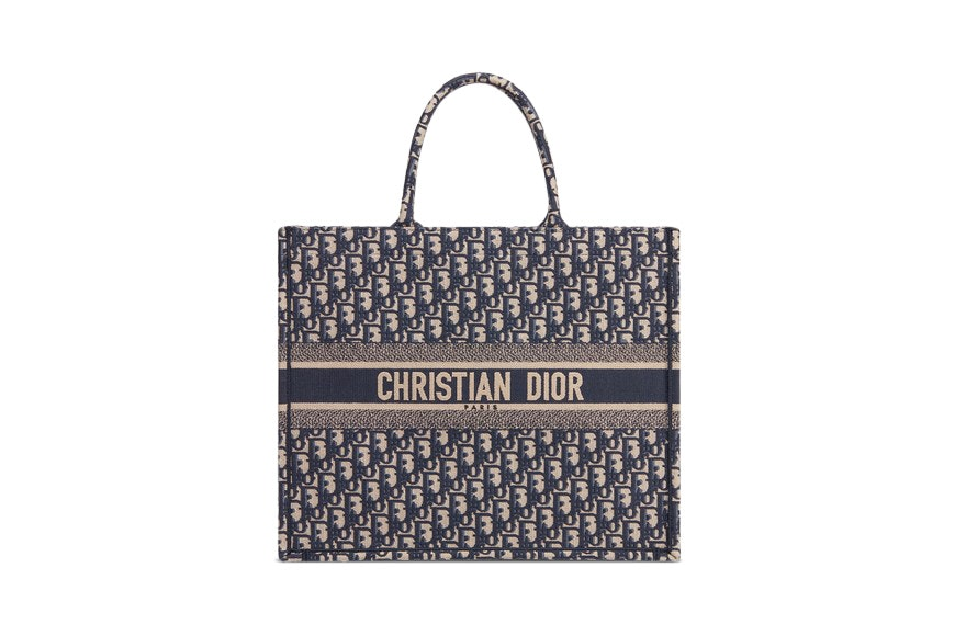 Dior Book Tote Oblique Navy Blue