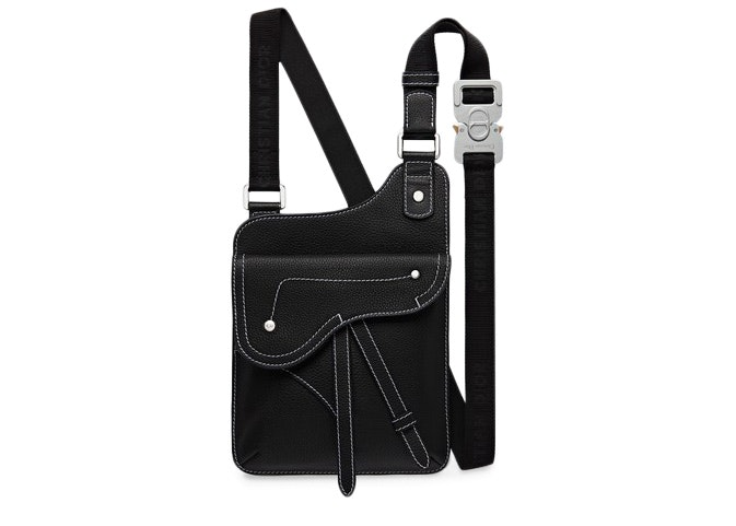 Dior Calfskin Messenger Bag Black