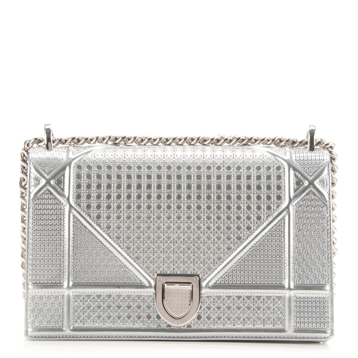 Dior Diorama Flap Bag Cannage Micro Metallic