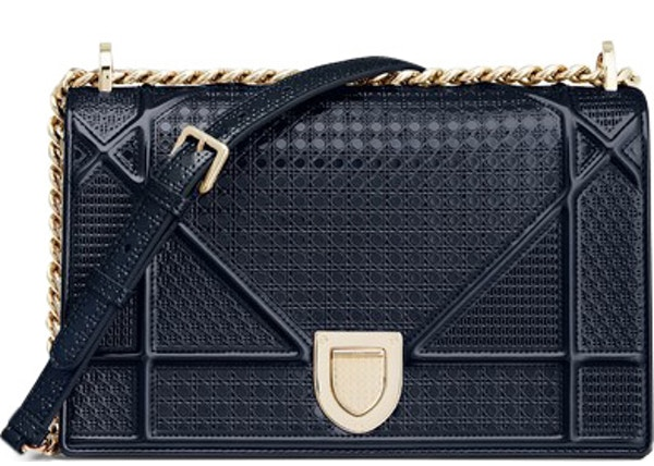 6889fb238f85 Dior Diorama Shoulder Bag Blue