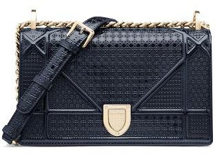 Dior Diorama Shoulder Bag Small Blue