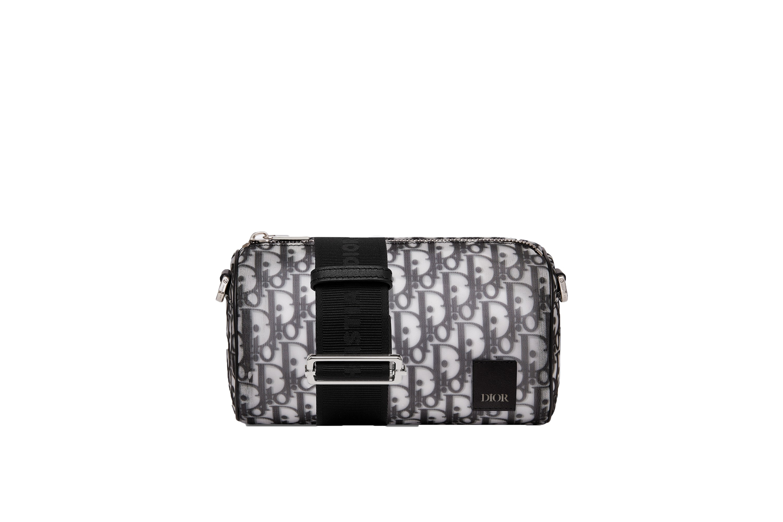 Dior Oblique Roller Shoulder Bag Monogram Black/White