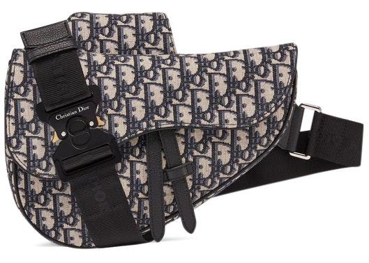 Dior Oblique Saddle Bag Black