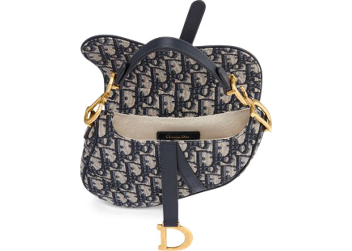 d7954aa747268 Dior Oblique Saddle Bag Mini Blue