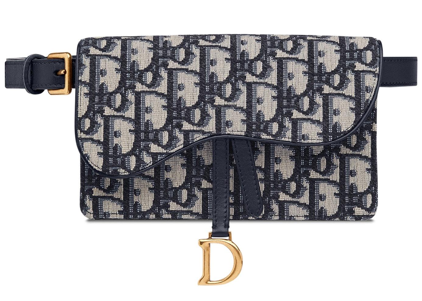 Dior Oblique Saddle Clutch Belt Blue