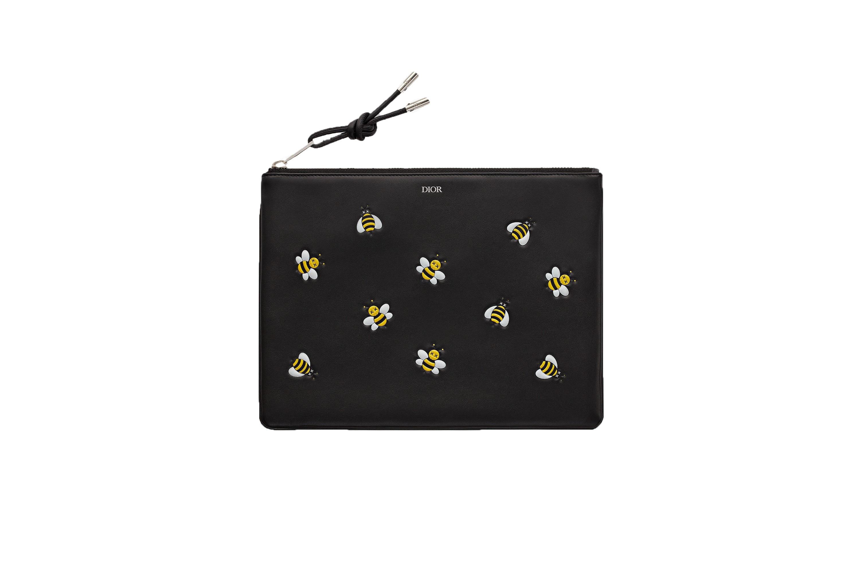 Dior x Kaws Pouch Yellow Bees Black