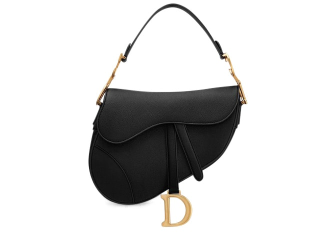 Dior Saddle Bag Calfskin Black