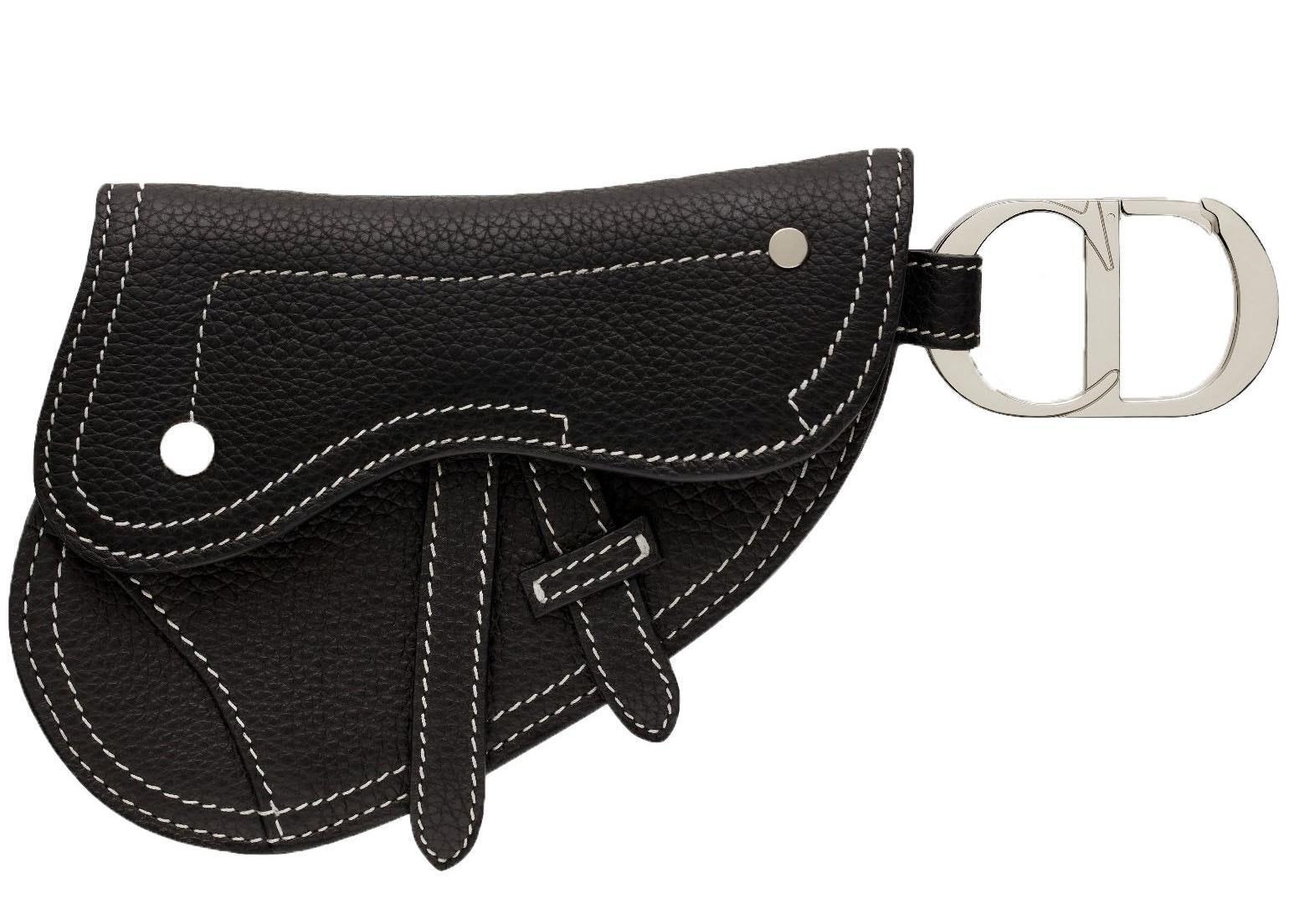 Dior Saddle Key Ring Black