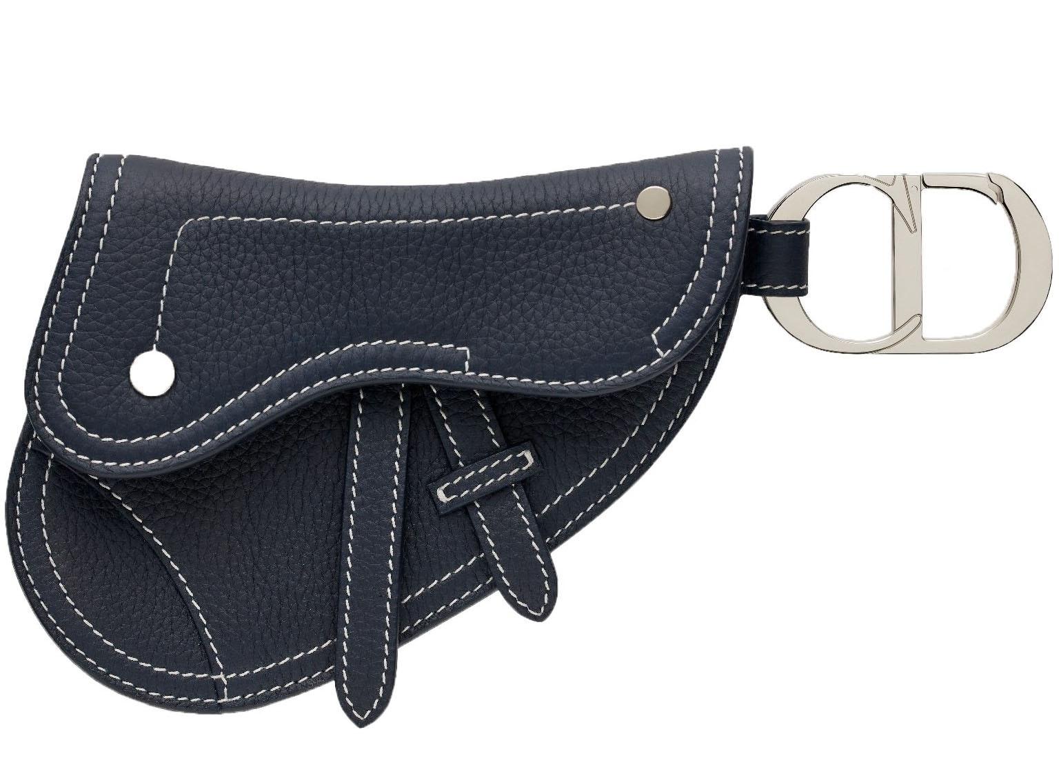 Dior Saddle Key Ring Navy Blue