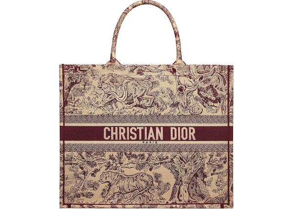8503f99e Dior Toile De Jouy Book Tote Burgundy