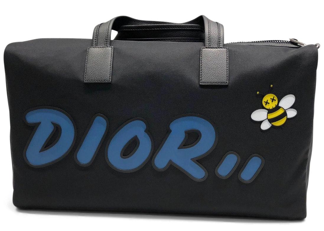 Dior x Kaws Duffle Blue Logo Black