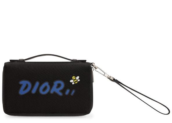 Dior x Kaws Nylon Wallet Black