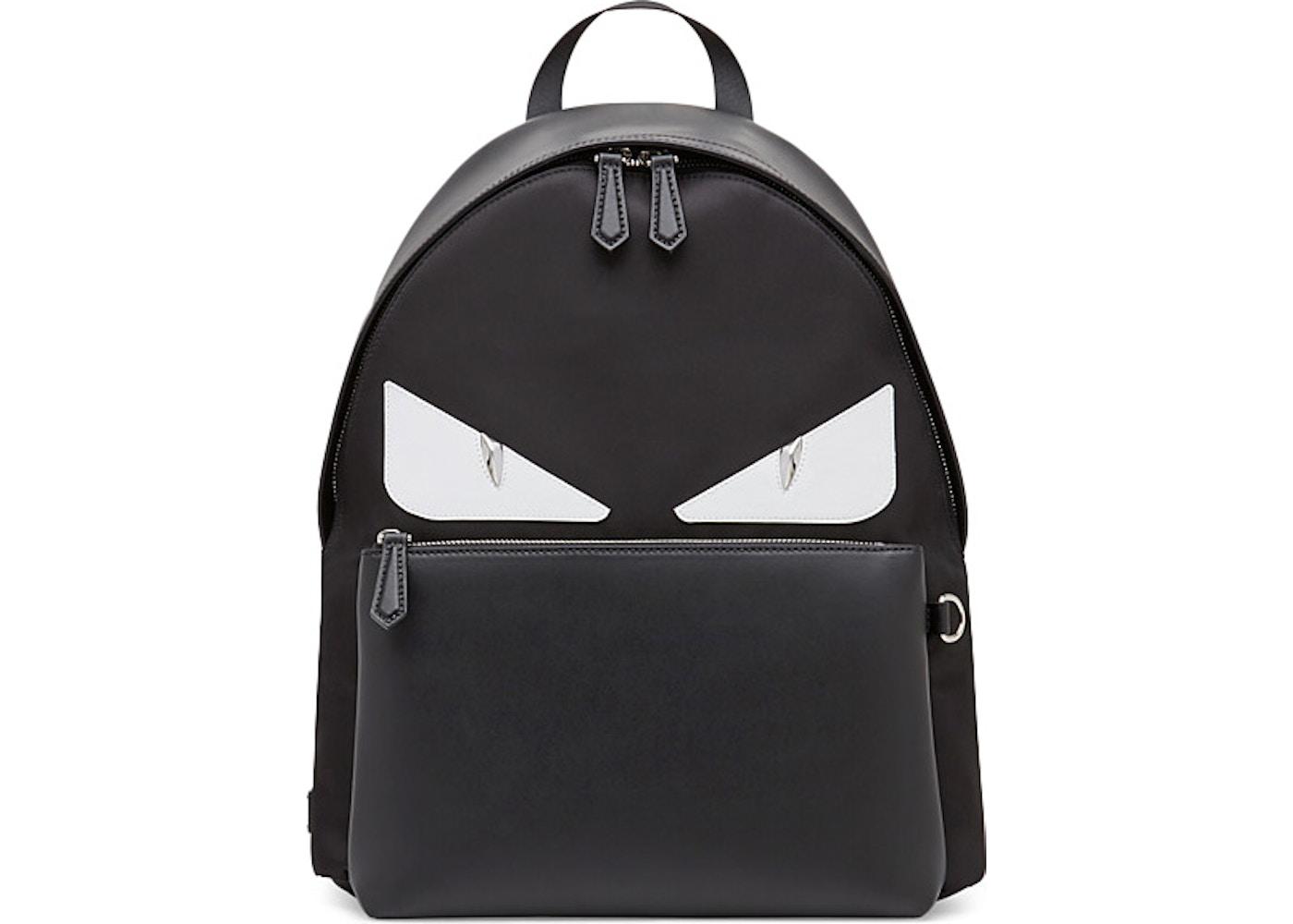 7c4241a534 Fendi Backpack Bag Bugs Eyes Black