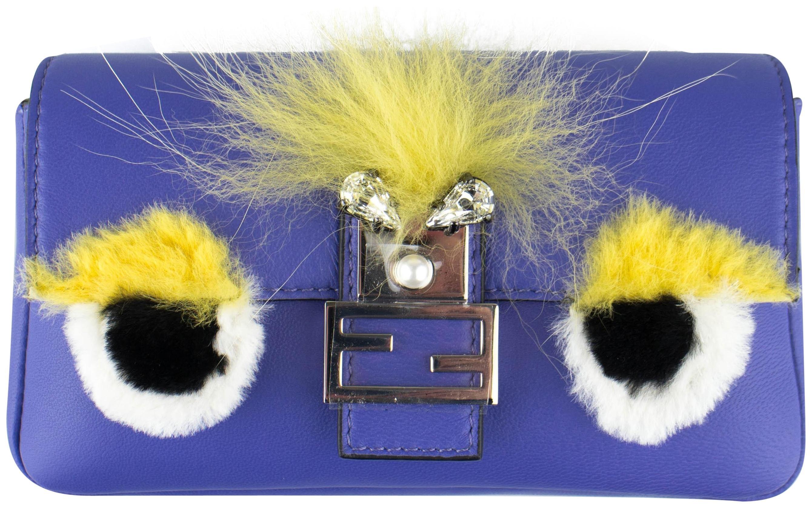 Fendi Baguette Bugs Micro Purple