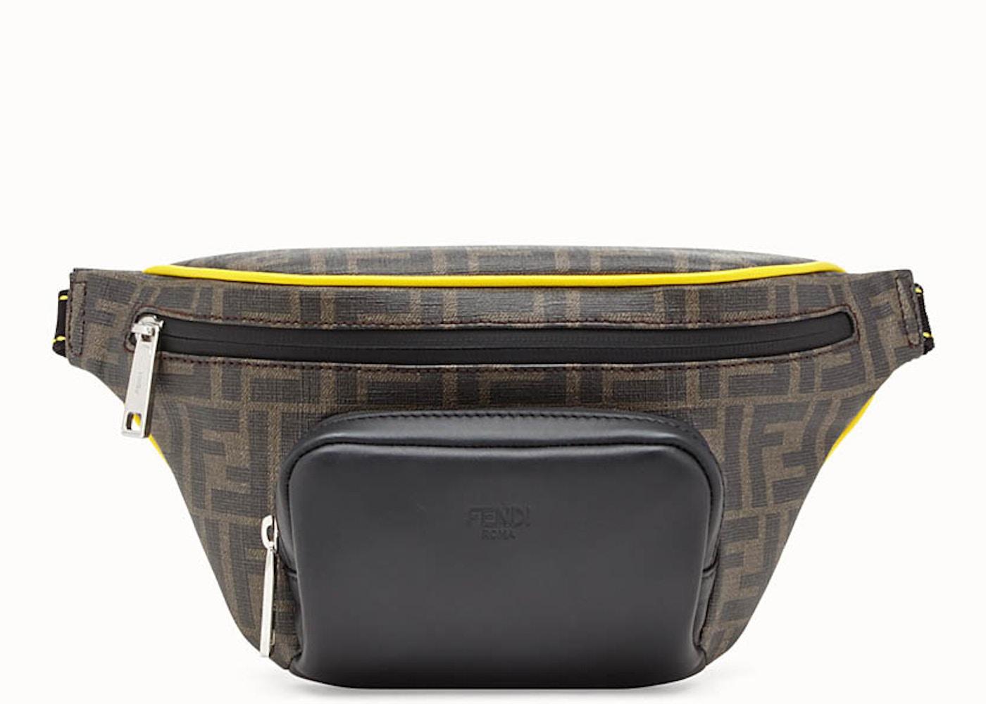 c2375a24 Fendi Belt Bag FF Fabric Yellow Piping Brown/Black
