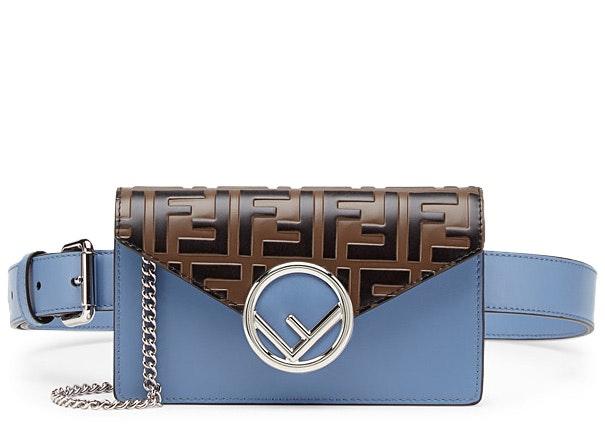 Fendi Belt Bag FF Pale Blue