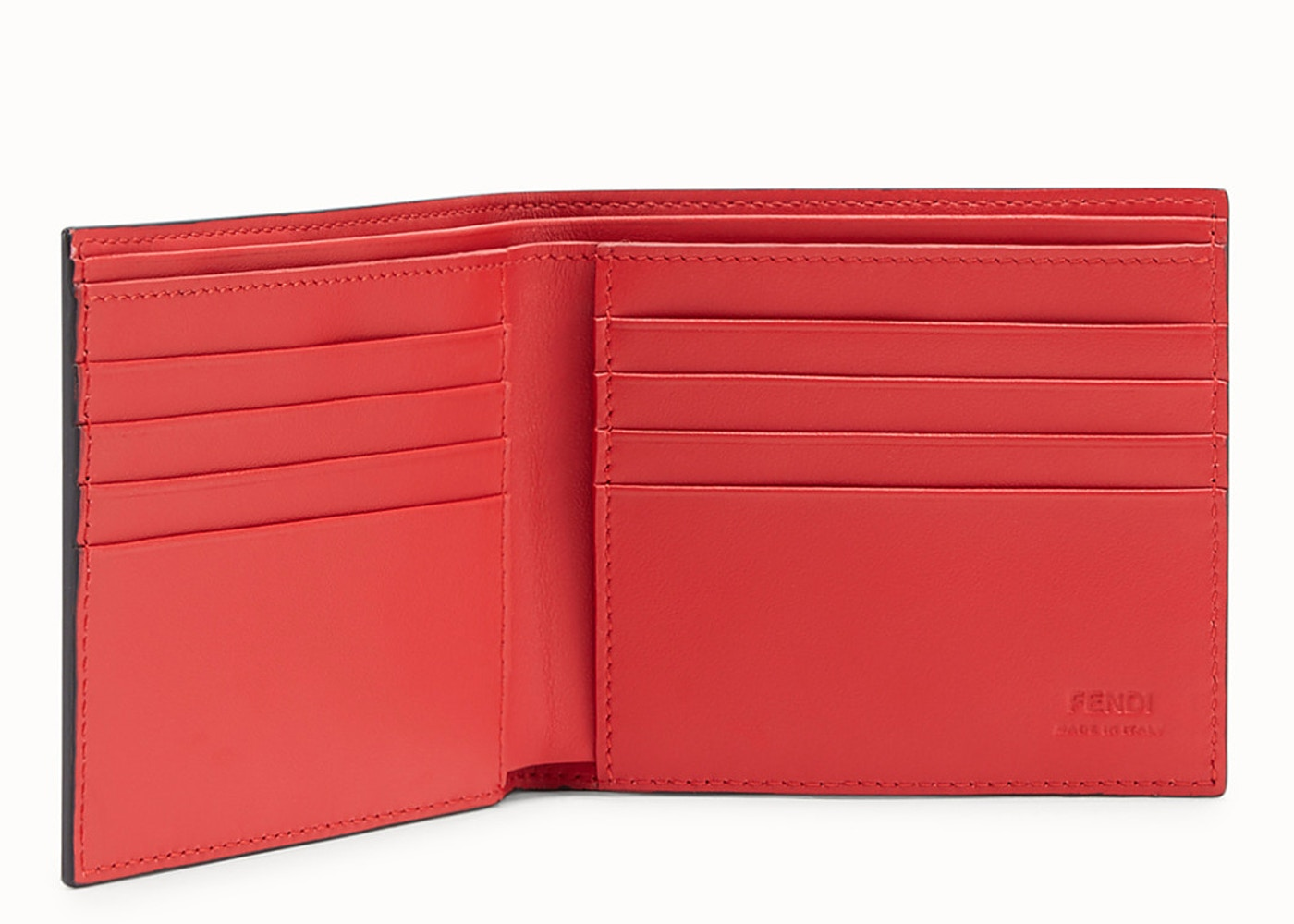 8545470e Fendi Bifold Wallet Monster Eyes Black/Red