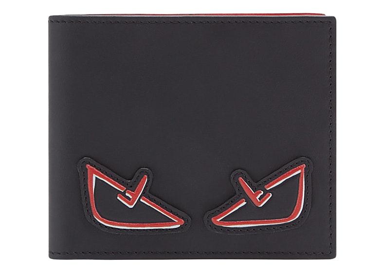 Fendi Bifold Wallet Monster Eyes Black/Red
