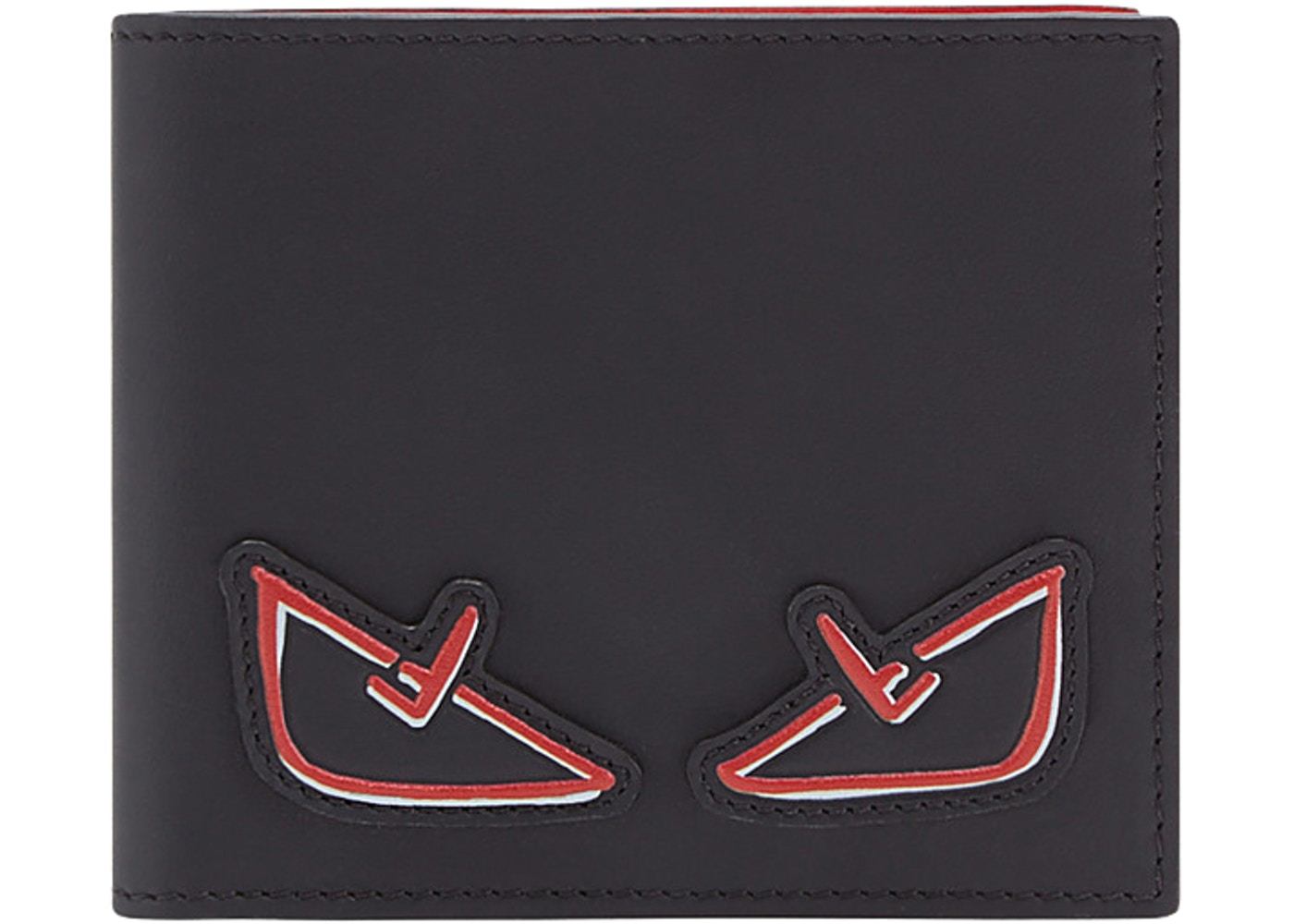 18bc698865 Fendi Bifold Wallet Monster Eyes Black/Red