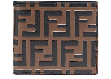 Fendi Bifold Wallet Zucca Embossed Brown/Black