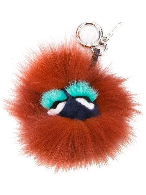 Fendi Blueminous Monster Bugs Bag Charm Red
