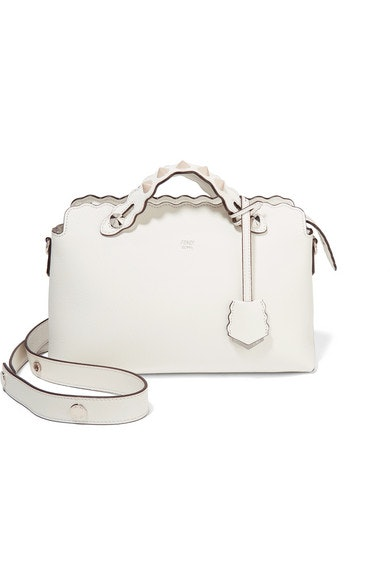 Fendi By The Way Shoulder Studded Small White