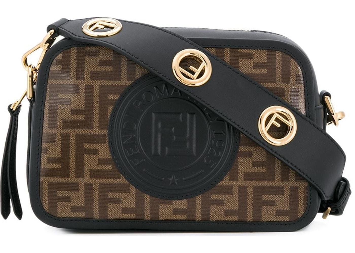 Fendi Camera Case FF Stamp Patch Brown Black. FF Stamp Patch Brown Black fd91165ee5fd6
