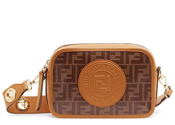 Fendi Camera Case FF Stamp Patch Brown/Caramel