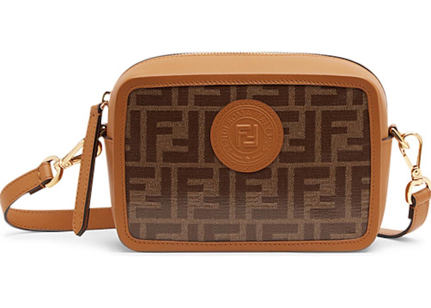 Fendi Camera Case FF Stamp Patch Mini Brown Caramel acdb7f3ef4983