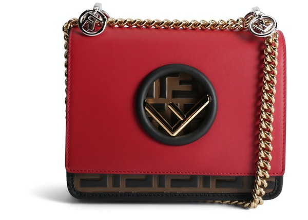 46ba696872d5 Fendi Kan I F Crossbody FF Small Red Tobacco Black