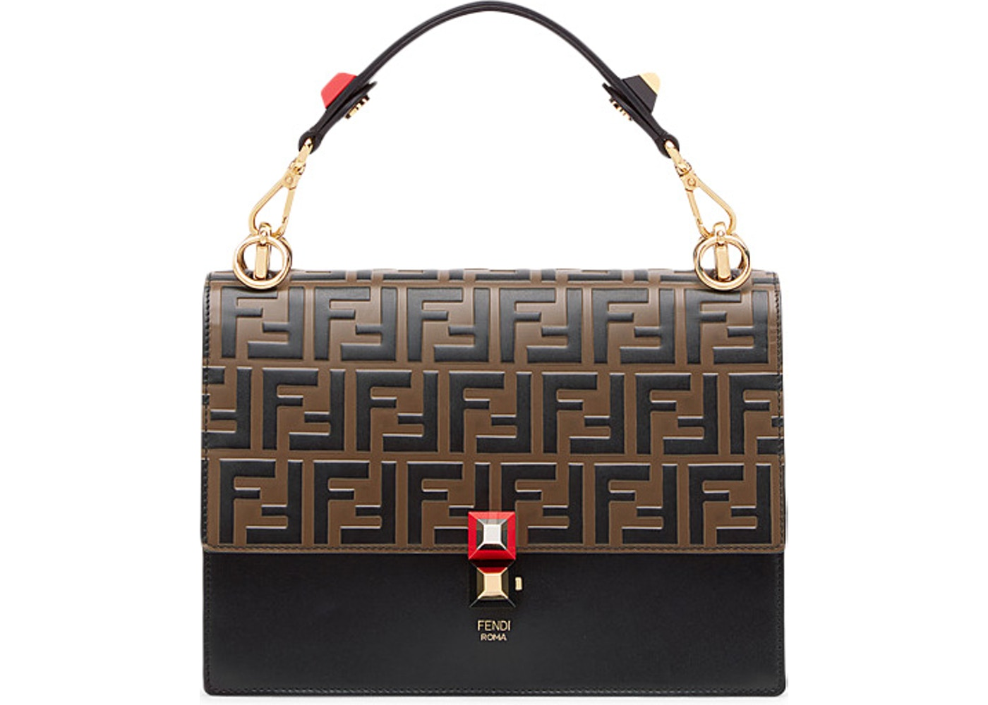 4cb168f9a6 Fendi Kan I Shoulder Bag FF Black/Brown. FF Black/Brown