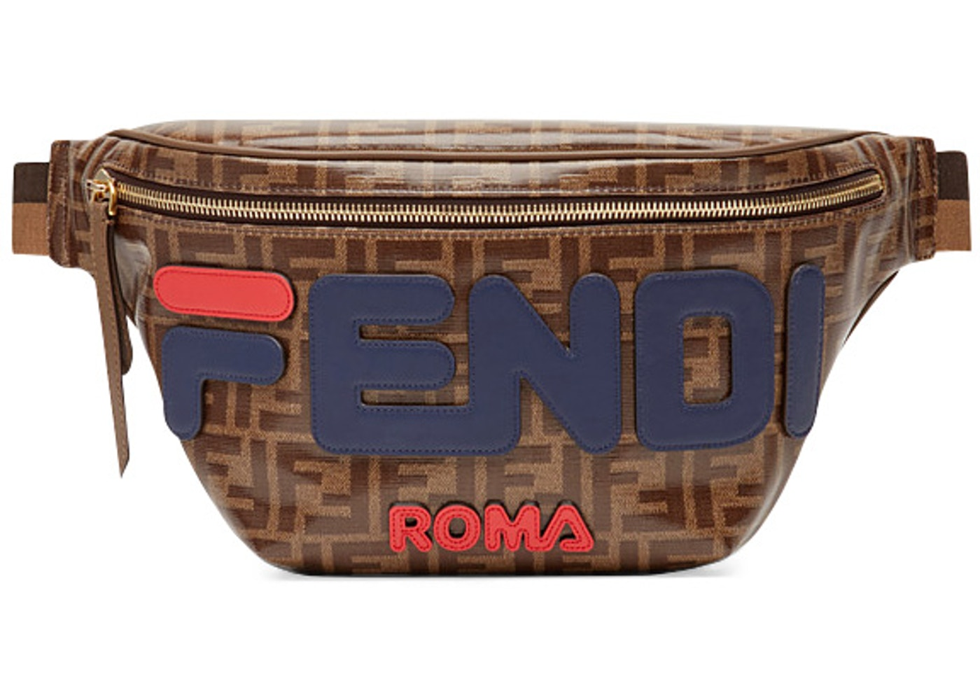 50f4b3b6 Fendi Mania Belt Bag FF Brown