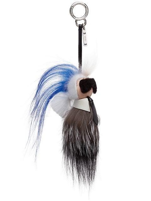 Fendi Mini Karlito Bag Charm Blue