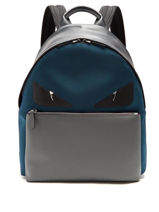 Fendi Monster Backpack Teal/Grey