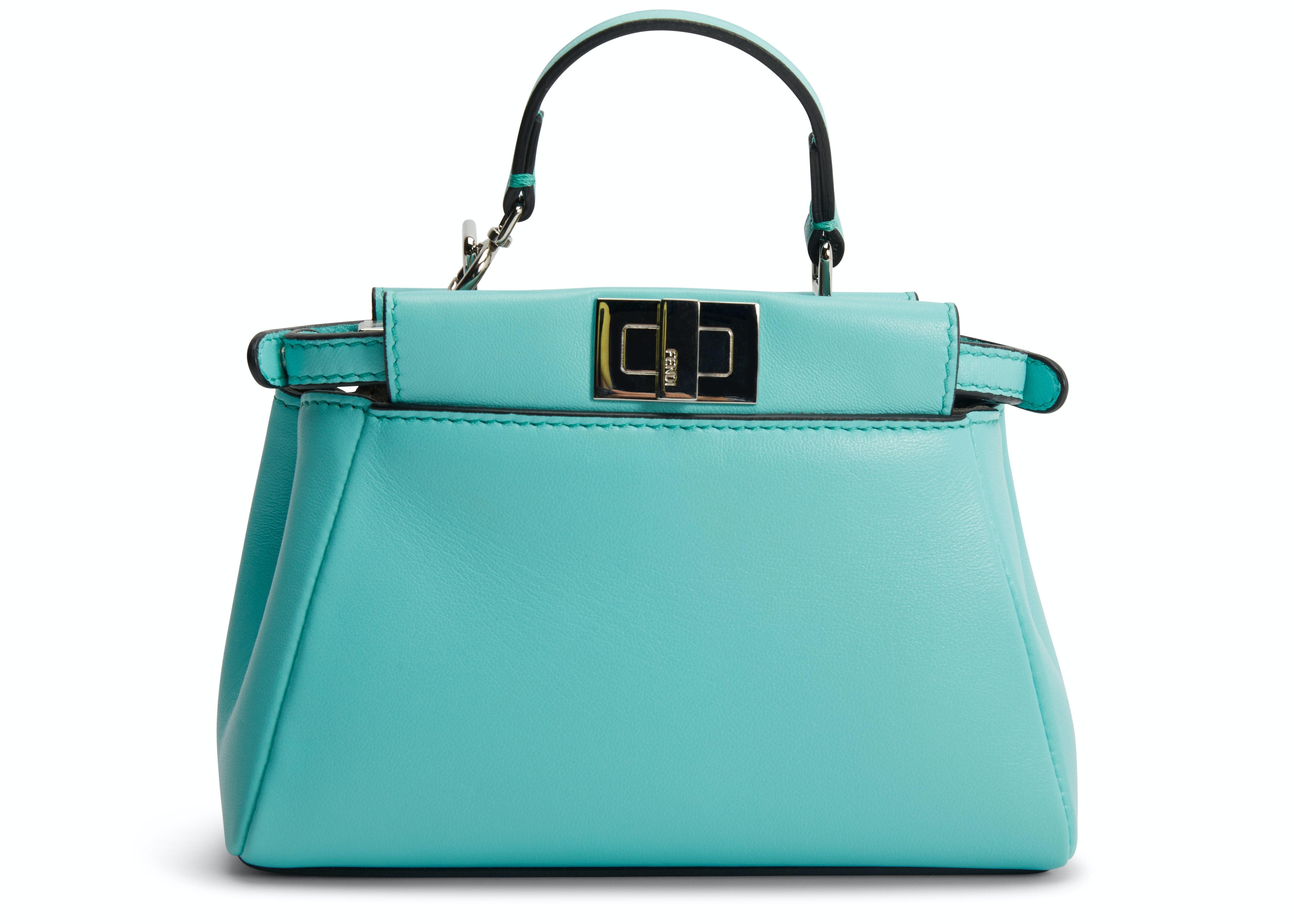 Fendi Peekaboo Micro Turquoise