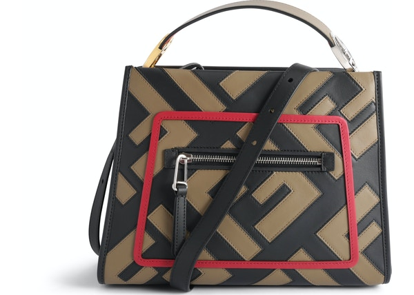 7fdf1f86fd Fendi Runaway Crossbody FF Small Tobacco Black Red