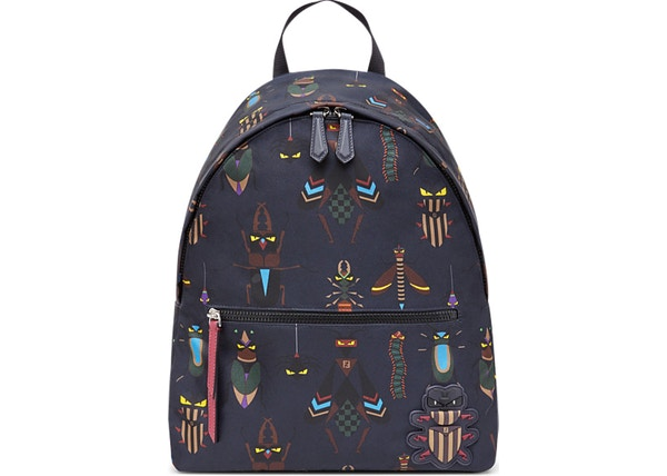 ab45f27b958b Fendi Slim Backpack Super Bugs Patch Blue