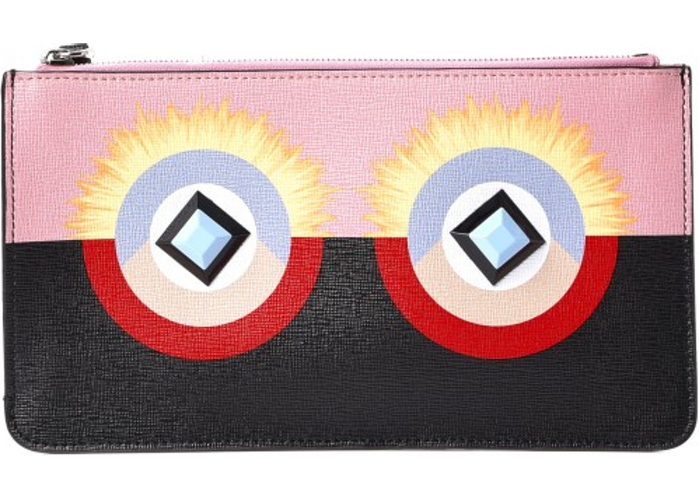 62ecbf0f63 Sell. or Ask. View All Bids. Fendi Vitello Elite Zip Pouch Monster Pink  Black