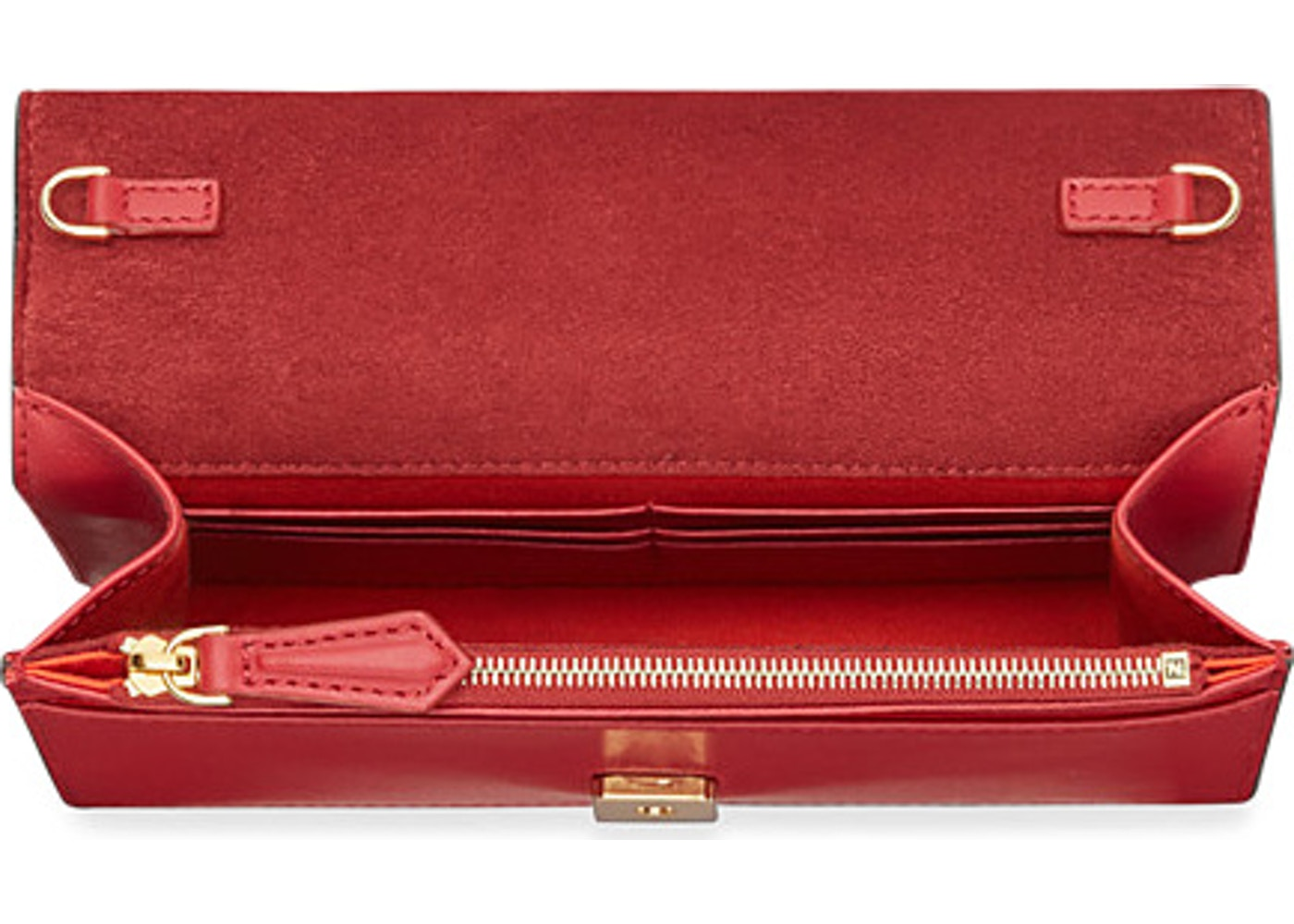 f1648c12ed55a Fendi Wallet on Chain Bag Bugs Red