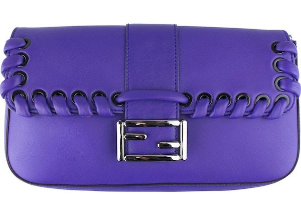 464de31264 Fendi Weave Baguette Shoulder Purple