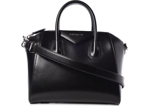 cc3d9882c051 Givenchy Antigona Shiny Lord Calfskin Small Black