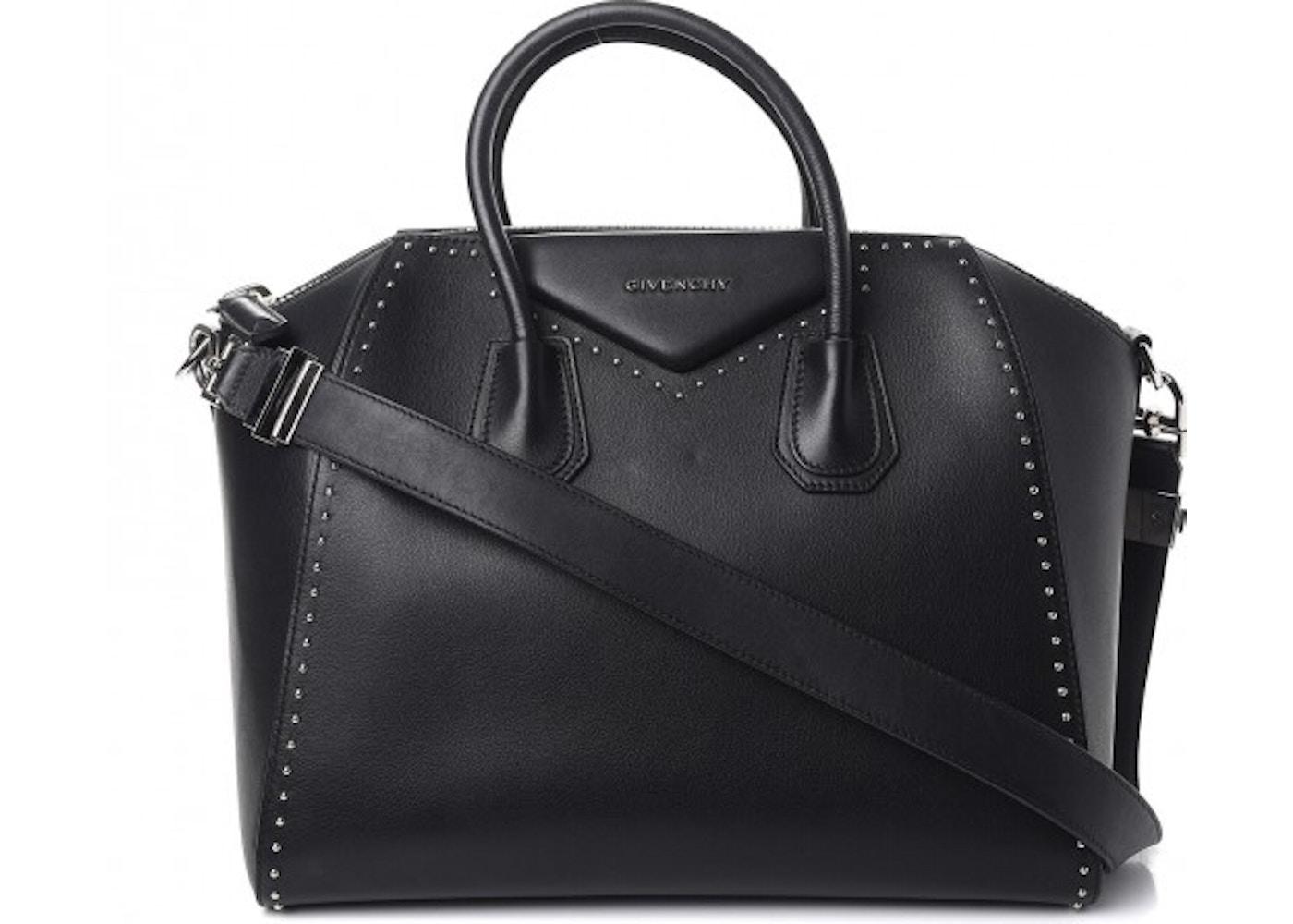 ae35f2d1ae2a Givenchy Antigona Tote Studded Textured Medium Black. Studded Textured  Medium Black