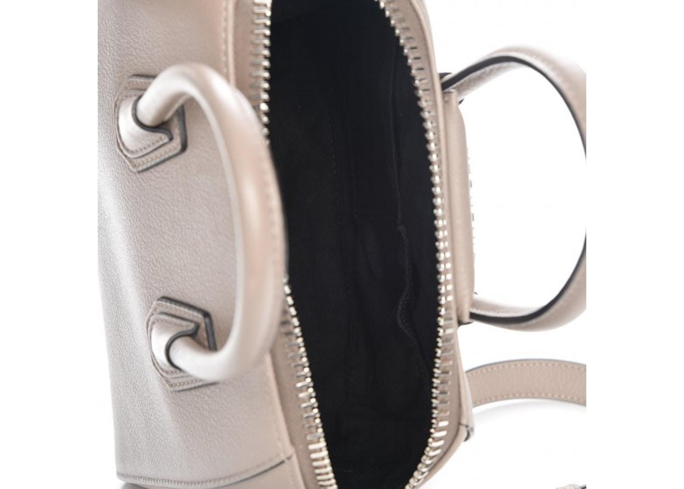 3c3bdf5541e Givenchy Antigona Tote Sugar Goatskin Mini Mastic