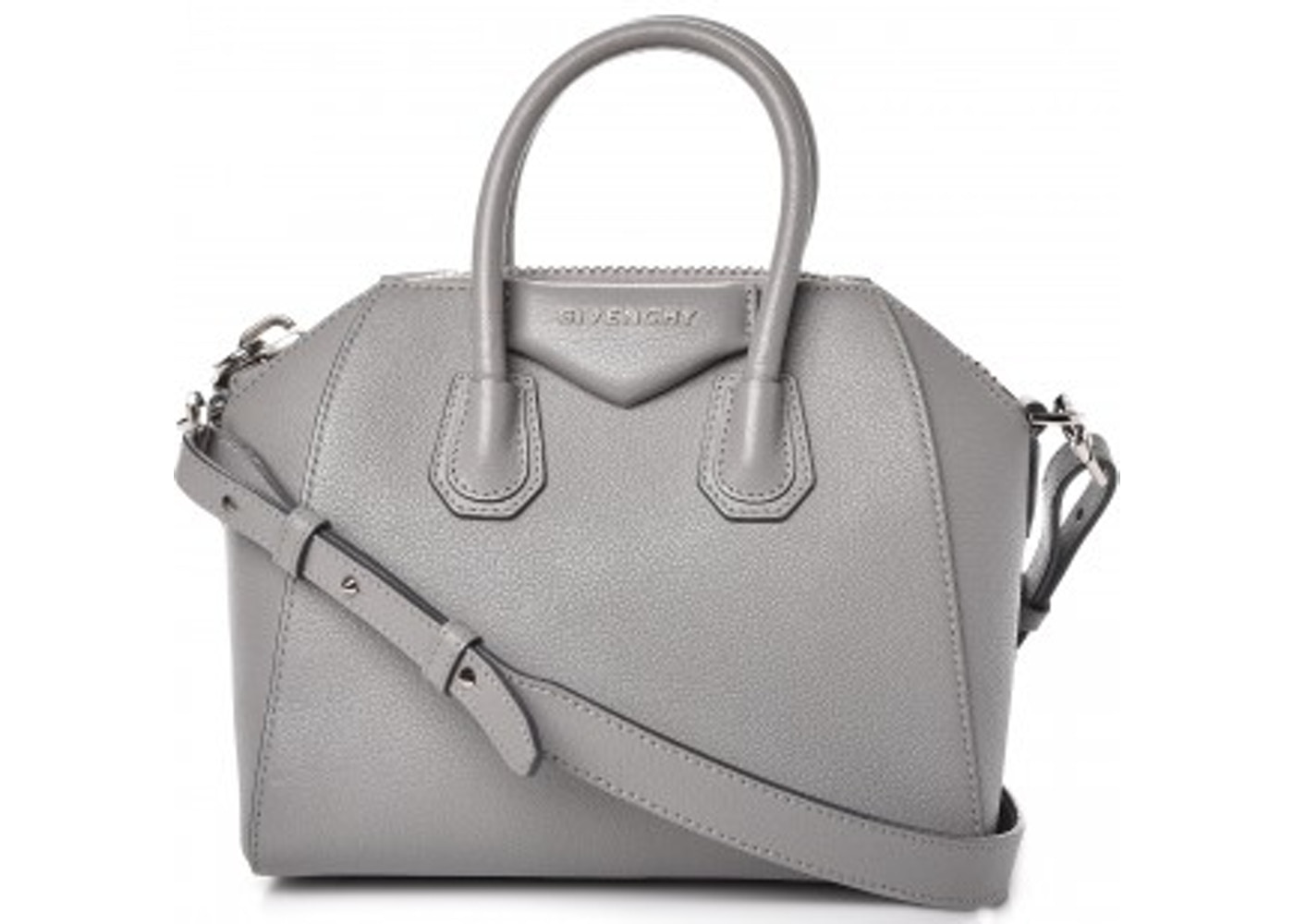 3c19532bea7b Givenchy Antigona Tote Sugar Goatskin Mini Pearl Grey. Sugar Goatskin Mini  Pearl Grey