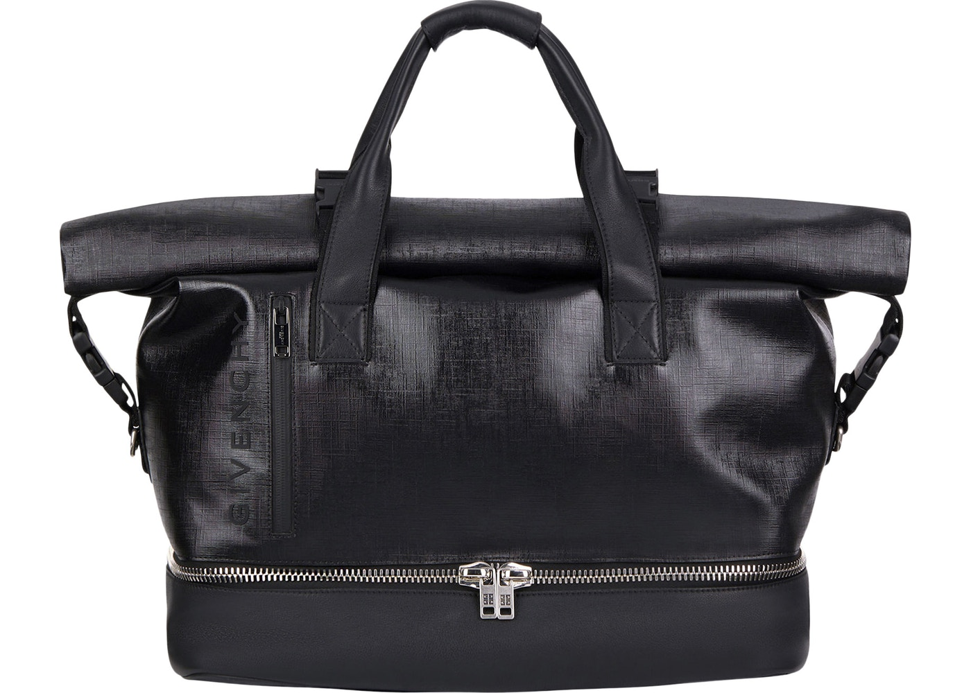 8953d3c3ddce Givenchy Jaw Weekender Bag Canvas Leather Silver-tone Black