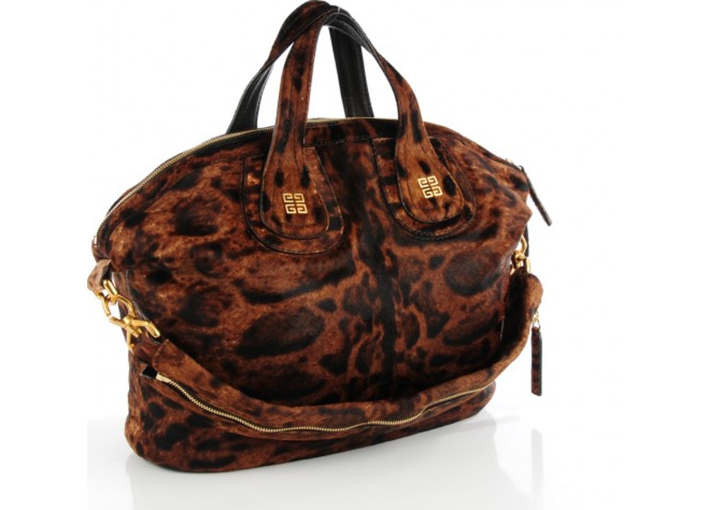 aa63880a09eb Givenchy Nightingale Tote Leopard Print Medium Brown