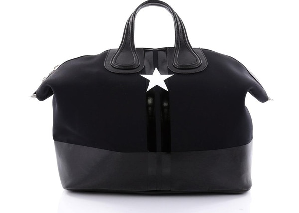 9e95bc5260 Givenchy Nightingale Satchel Star Printed Neoprene Large Black