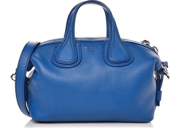 8cc357f37438 Givenchy Nightingale Tote Waxed With Accessories Micro Indigo Blue