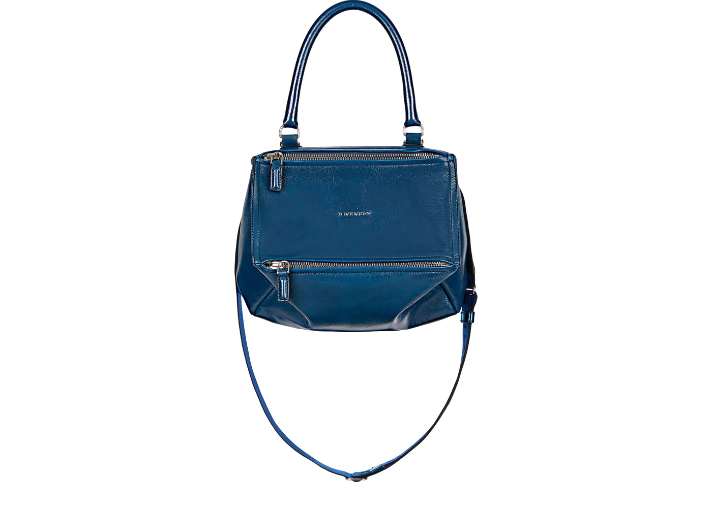 6c17c735896 Givenchy Pandora Bag Patent Leather 4G Strap Small Petrol Blue