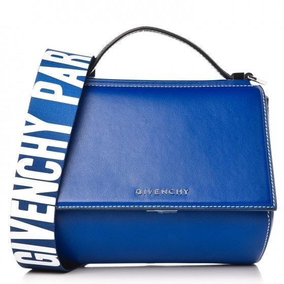 Givenchy Pandora Box Messenger Logo Strap With Accessories Mini Moroccan Blue